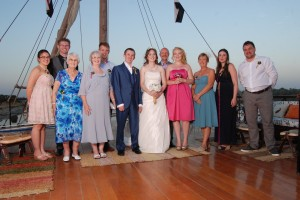 Chria and Emma Wedding group