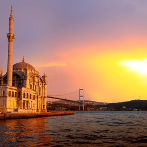 Ortakoy mosque and Bosphorus bridge, Istanbul