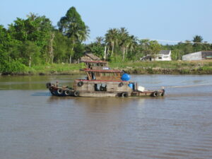 Enjoying the experience of the Mekong River