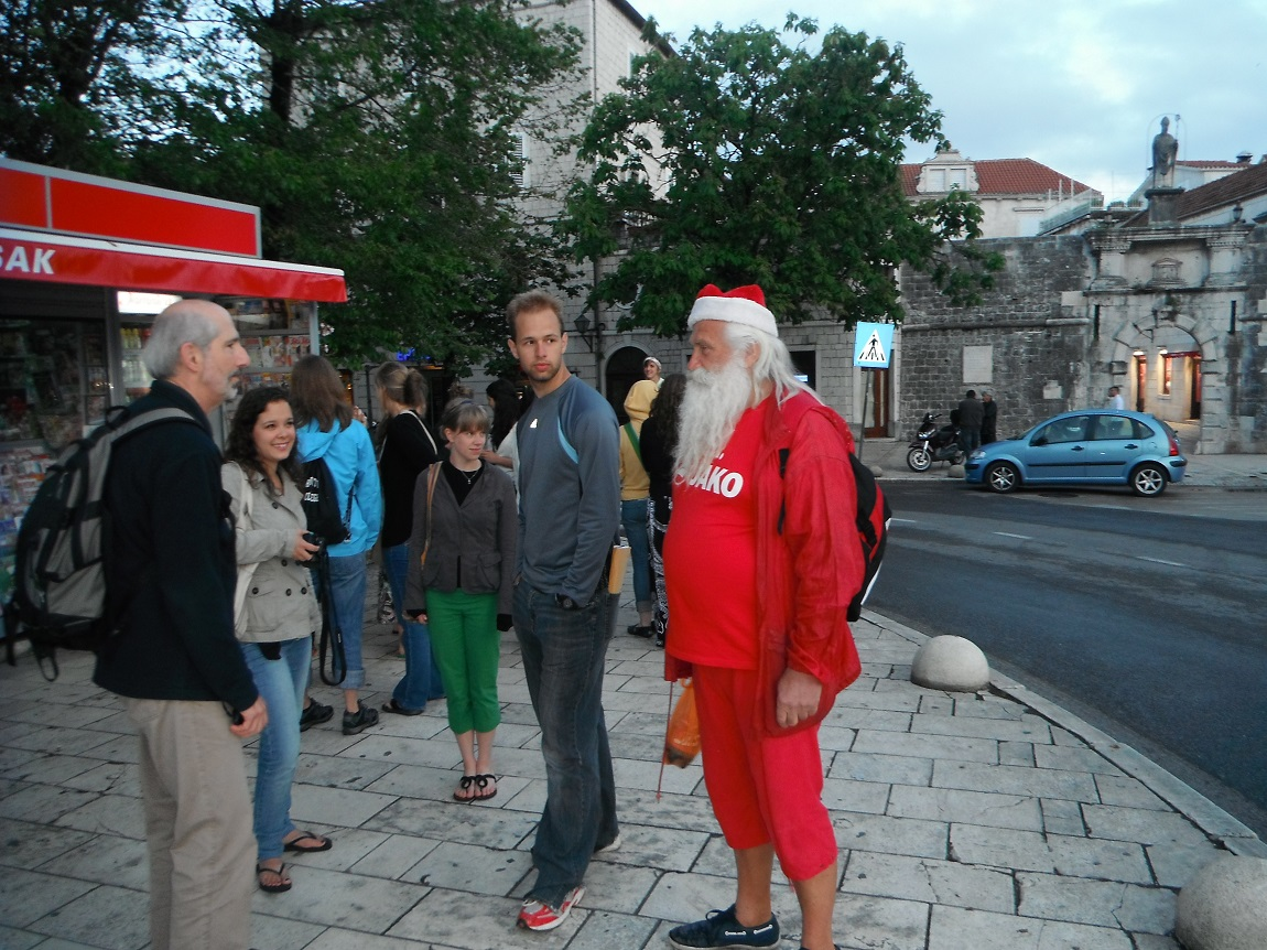 Father Christmas on holiday in Trogir