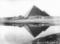Old picture for the Pyramid by the nile on 1877