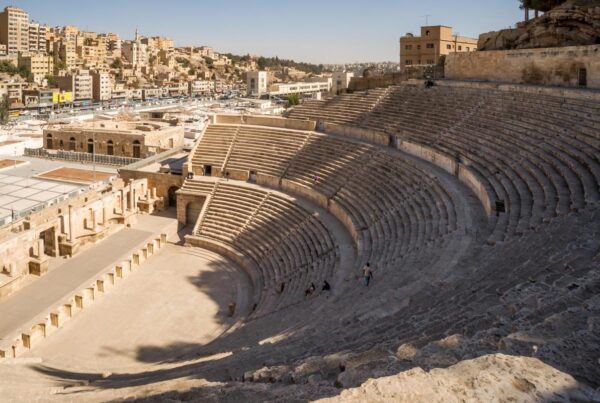A view over the ancient Roman Theatre in Jordan's capital Amman
