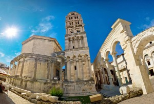 Diocletian palace UNESCO world heritage site in Split