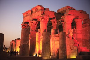 Kom Ombo by night