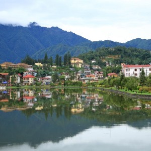Sapa valley cityscape