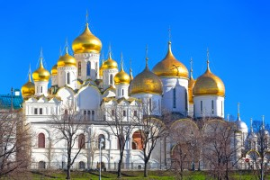 The Annunciation Cathedral and The Archangel Cathedral in Moscow