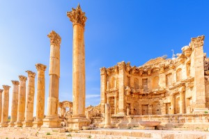 The Nymphaeum in the ancient Jordanian city of Gerasa, Jerash