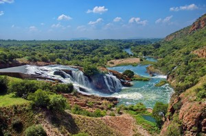 Waterfall of Crocodile river Hartbeespoortdam South Africa