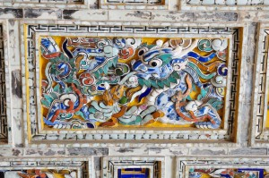 detail of the roof of a Emperor palace in Hue