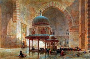 Sultan hassan Mosque painting